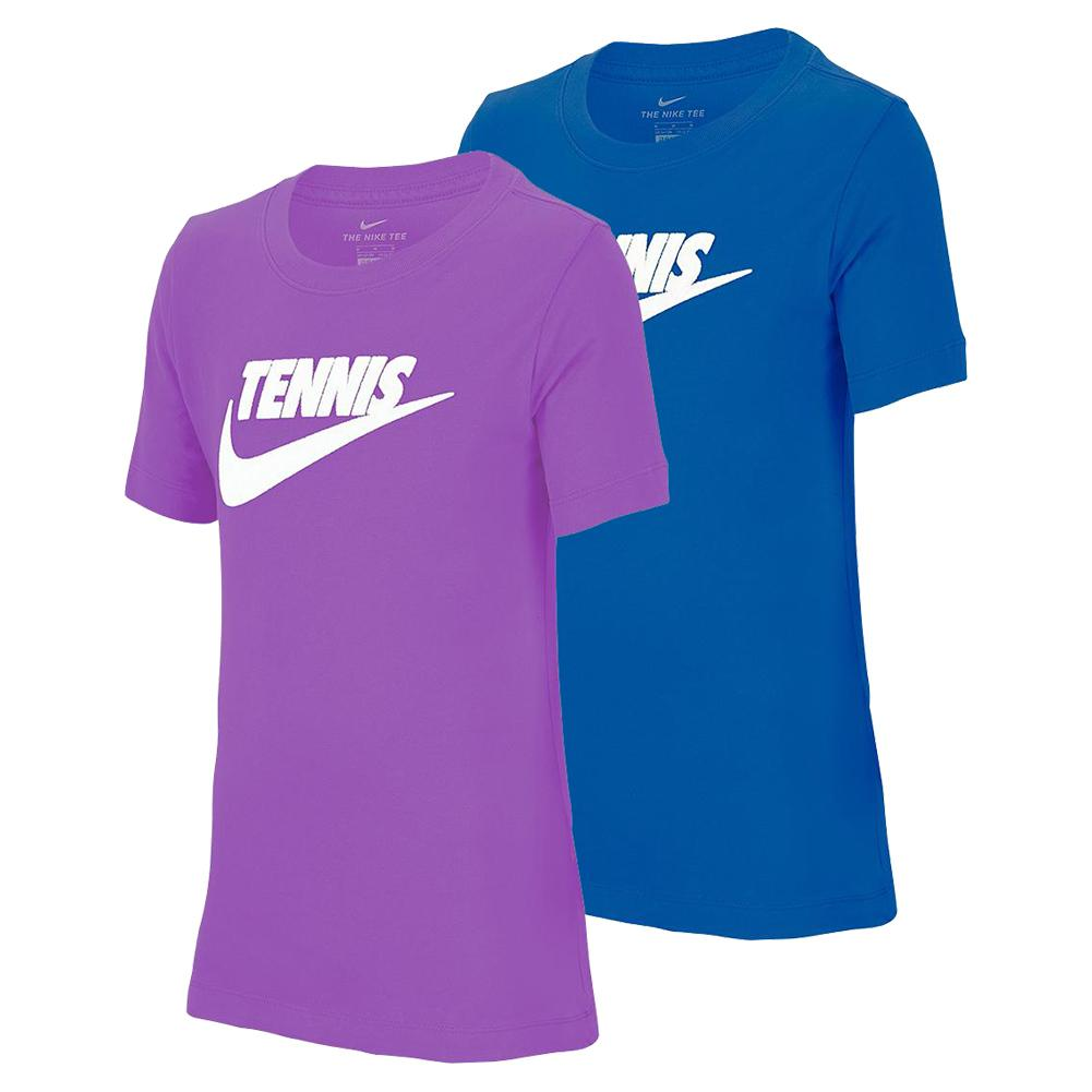 Juniors ` Court Dri- Fit Cotton Graphic Tennis Tee