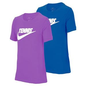 Juniors` Court Dri-FIT Cotton Graphic Tennis Tee