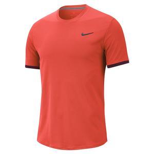 Men`s Court Dry Colorblock Short Sleeve Tennis Top
