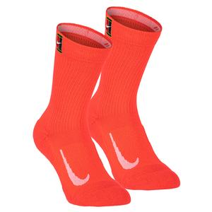 Court Multiplier Cushioned Tennis Crew Socks (2 Pairs)