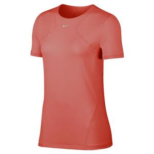 Women`s Pro Short-Sleeve Mesh Training Top