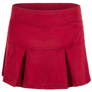 Women`s Baseline Pleated Tennis Skirt Garnet