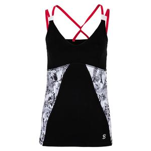 Women`s Tennis Cami Vintage Floral and Black