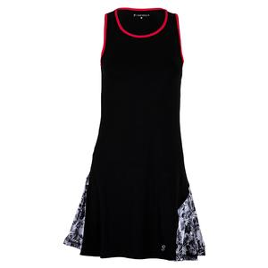 Women`s Tennis Dress Black and Vintage Floral