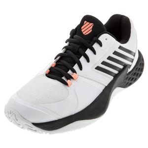 Men`s Aero Court Tennis Shoes White and Black