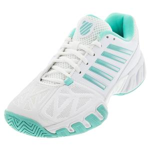 Women`s Bigshot Light 3 Tennis Shoes White and Aruba Blue