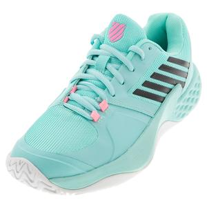 Women`s Aero Court Tennis Shoes Aruba Blue and White