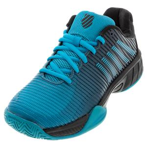 Juniors` Hypercourt Express 2 Tennis Shoes Algiers Blue and Black