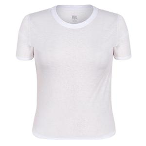 Women`s Geneva Short Sleeve Tennis Top Chalk