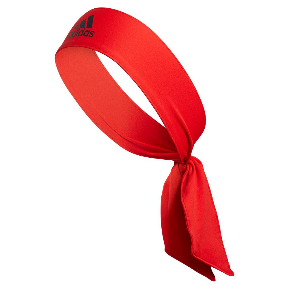 Alphaskin Tie Tennis Headband Red And Black