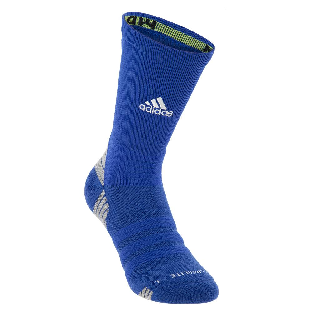 Alphaskin Maximum Cushioned Crew Socks Bold Blue And White
