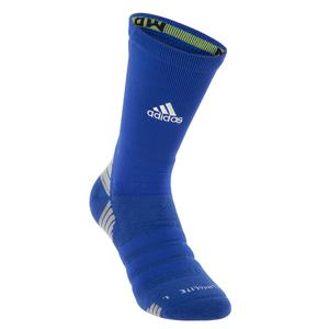 Alphaskin Maximum Cushioned Crew Socks Bold Blue and White