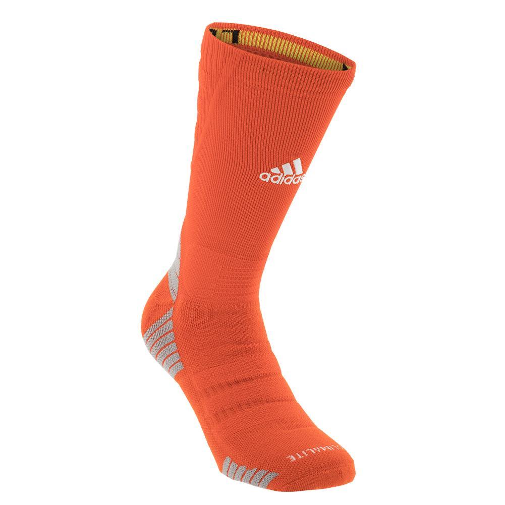 Alphaskin Maximum Cushioned Crew Socks Collegiate Orange And White