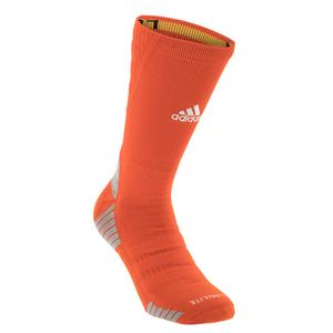 Alphaskin Maximum Cushioned Crew Socks Collegiate Orange and White