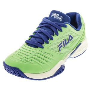 Women`s Axilus 2 Energized Tennis Shoes Green Ash and Amparo Blue