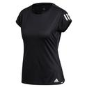 Womens Club 3 Stripe Tee FK6972_BLACK