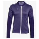 Women`s Qualifier Hybrid Warm-Up Jacket 500_PURPLE