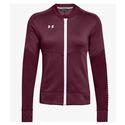 Women`s Qualifier Hybrid Warm-Up Jacket 609_MAROON