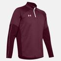 Men`s Qualifier Hybrid Quarter Zip 609_MAROON