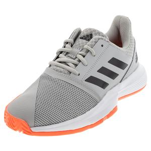 Juniors` CourtJam XJ Tennis Shoes Gray Two and Core Black