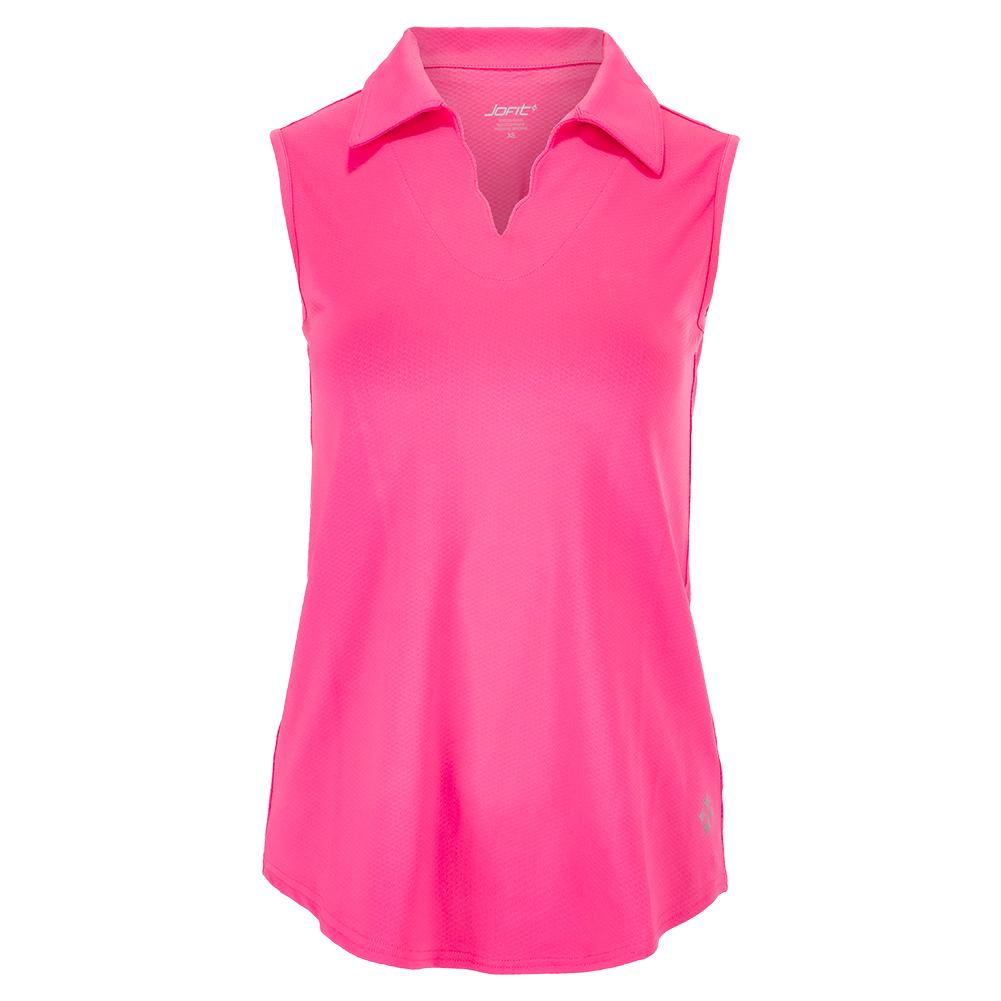Women's Scallop Sleeveless Tennis Polo