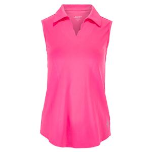 Women`s Scallop Sleeveless Tennis Polo