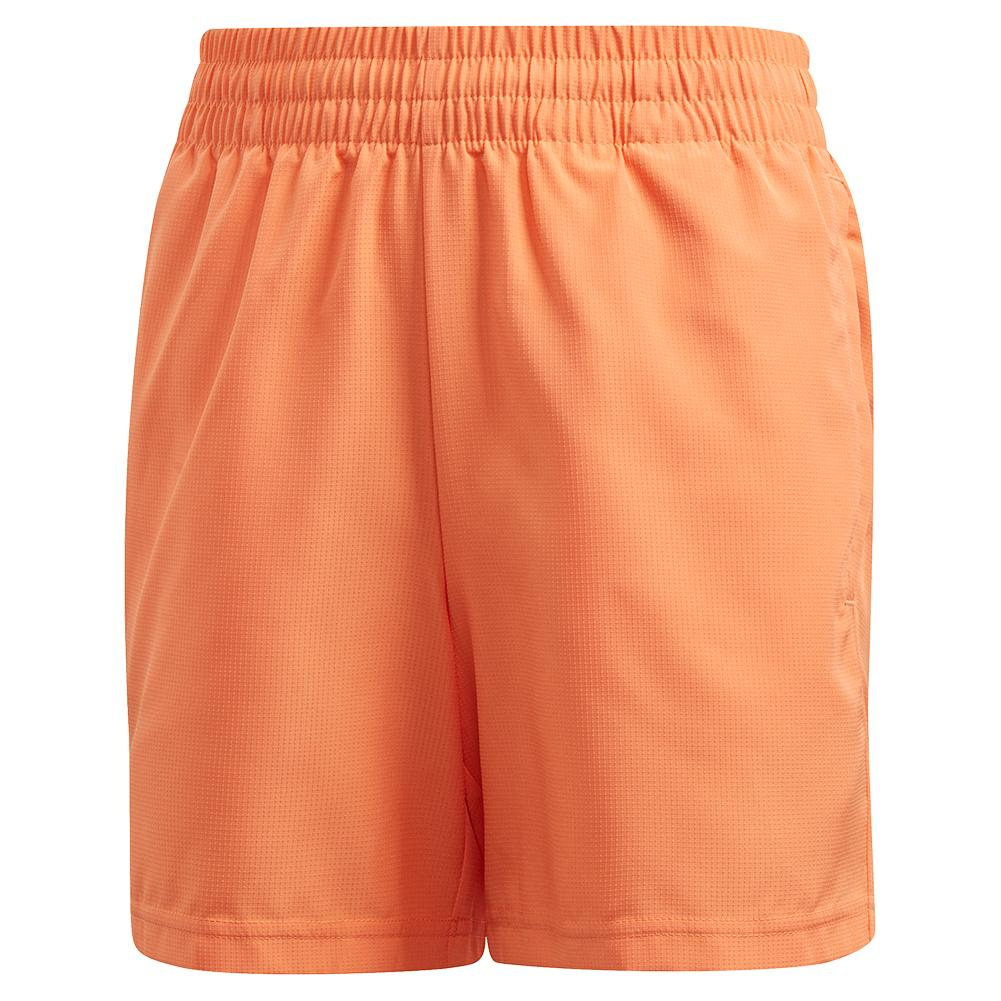 Boys ` Club 5 Inch Tennis Short Amber Tint And Grey Six