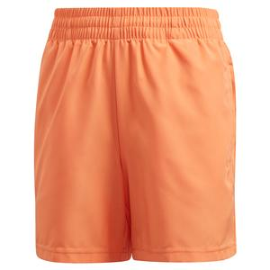 Boys` Club 5 inch Tennis Short Amber Tint and Grey Six