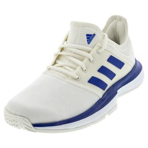 Juniors` SoleCourt Tennis Shoes Off White and Team Royal