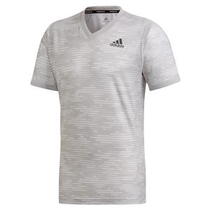 Men`s Primeblue FreeLift Tennis Top Grey Two and Six