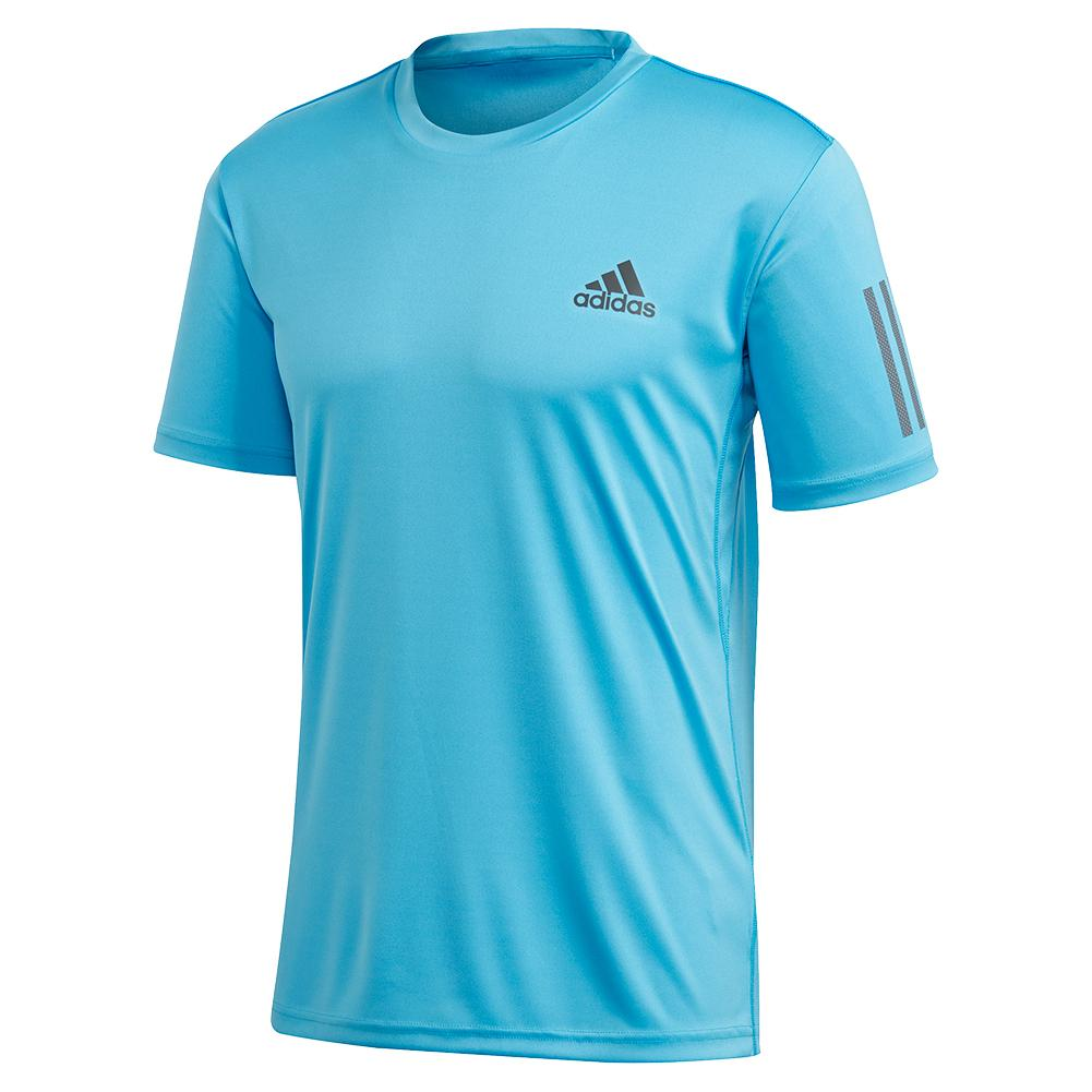 Men's Club 3 Stripes Tennis Top Fresh Splash And Grey Six