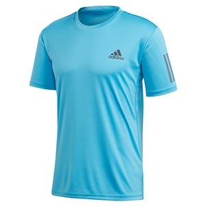 Men`s Club 3 Stripes Tennis Top Fresh Splash and Grey Six
