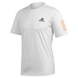 Men`s Club 3 Stripes Tennis Top Dash Grey and Grey Six