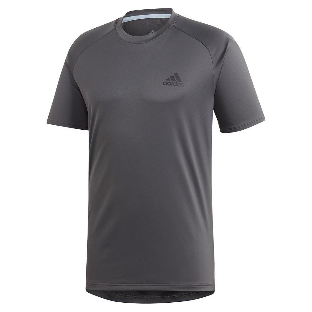 Men's Club Color Block Tennis Top Grey Six And Black