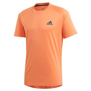 Men`s Club Color Block Tennis Top Amber Tint and Grey Six