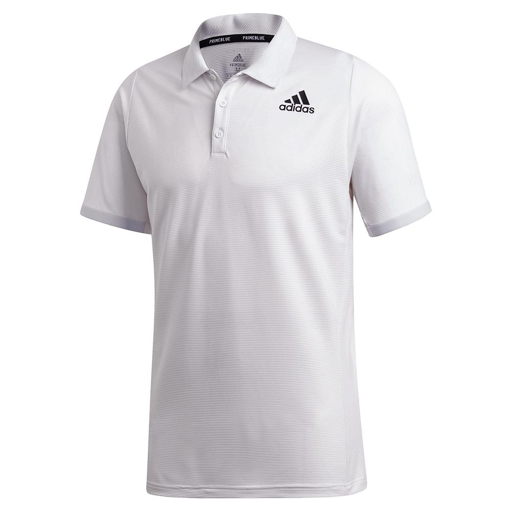 Men's Primeblue Freelift Tennis Polo Dash Grey And Black