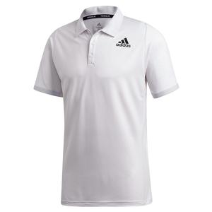 Men`s Primeblue FreeLift Tennis Polo Dash Grey and Black