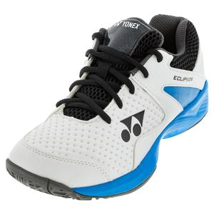Juniors` Power Cushion Eclipsion 2 Tennis Shoes White and Sky Blue