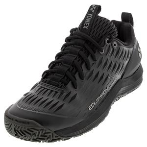 Men`s Power Cushion Eclipsion 3 Tennis Shoes Black and Silver