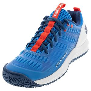 Men`s Power Cushion Eclipsion 3 Tennis Shoes Blue and White