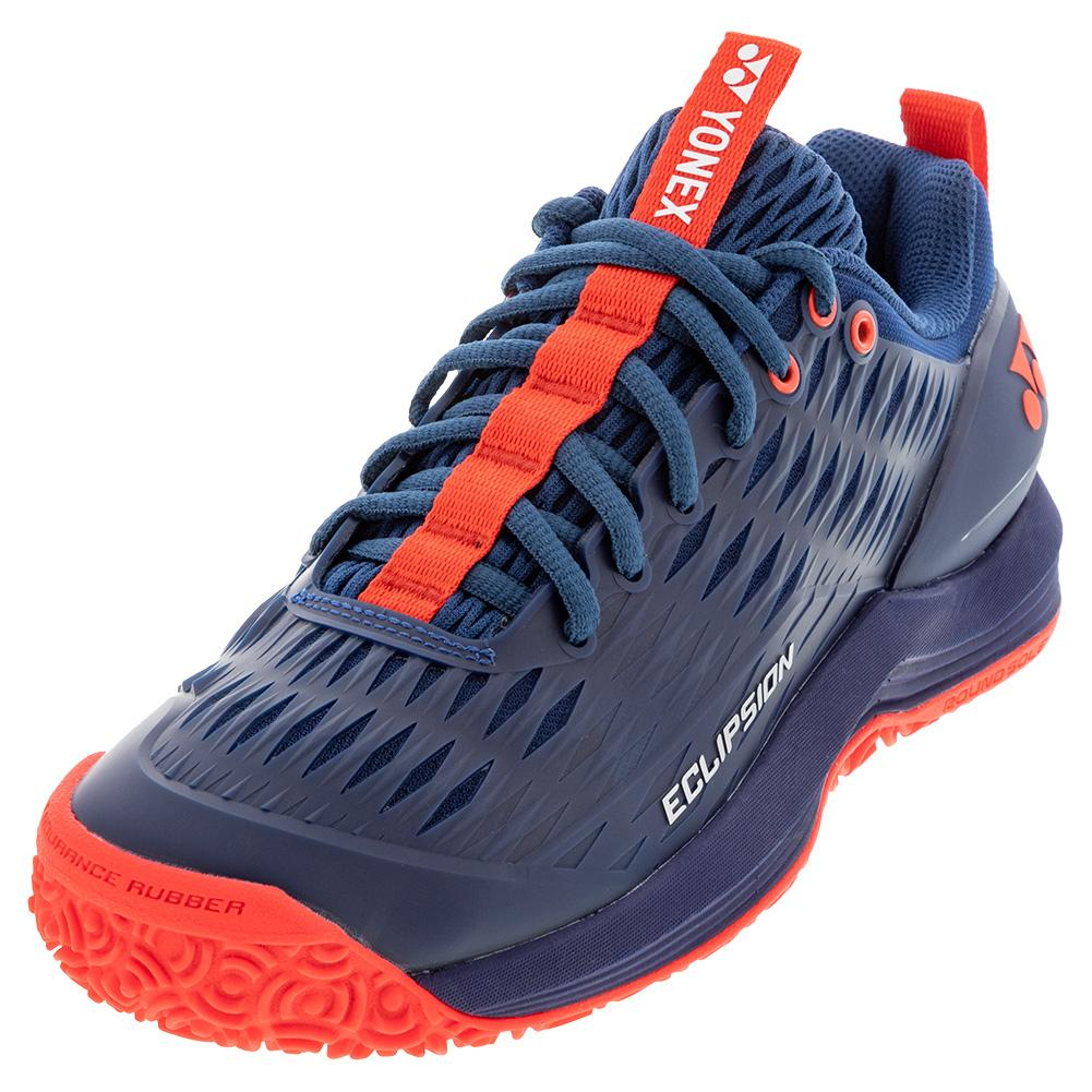 Men's Power Cushion Eclipsion 3 Clay Tennis Shoes Navy And Red