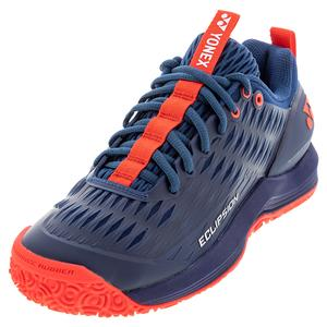 Men`s Power Cushion Eclipsion 3 Clay Tennis Shoes Navy and Red