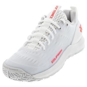 Women`s Power Cushion Eclipsion 3 Tennis Shoes White and Red