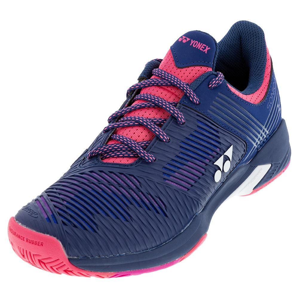 Women's Power Cushion Sonicage 2 Tennis Shoes Navy And Pink