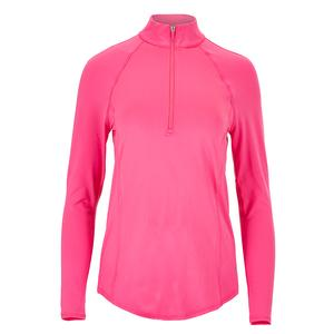 Women`s Long Sleeve Tennis Mock