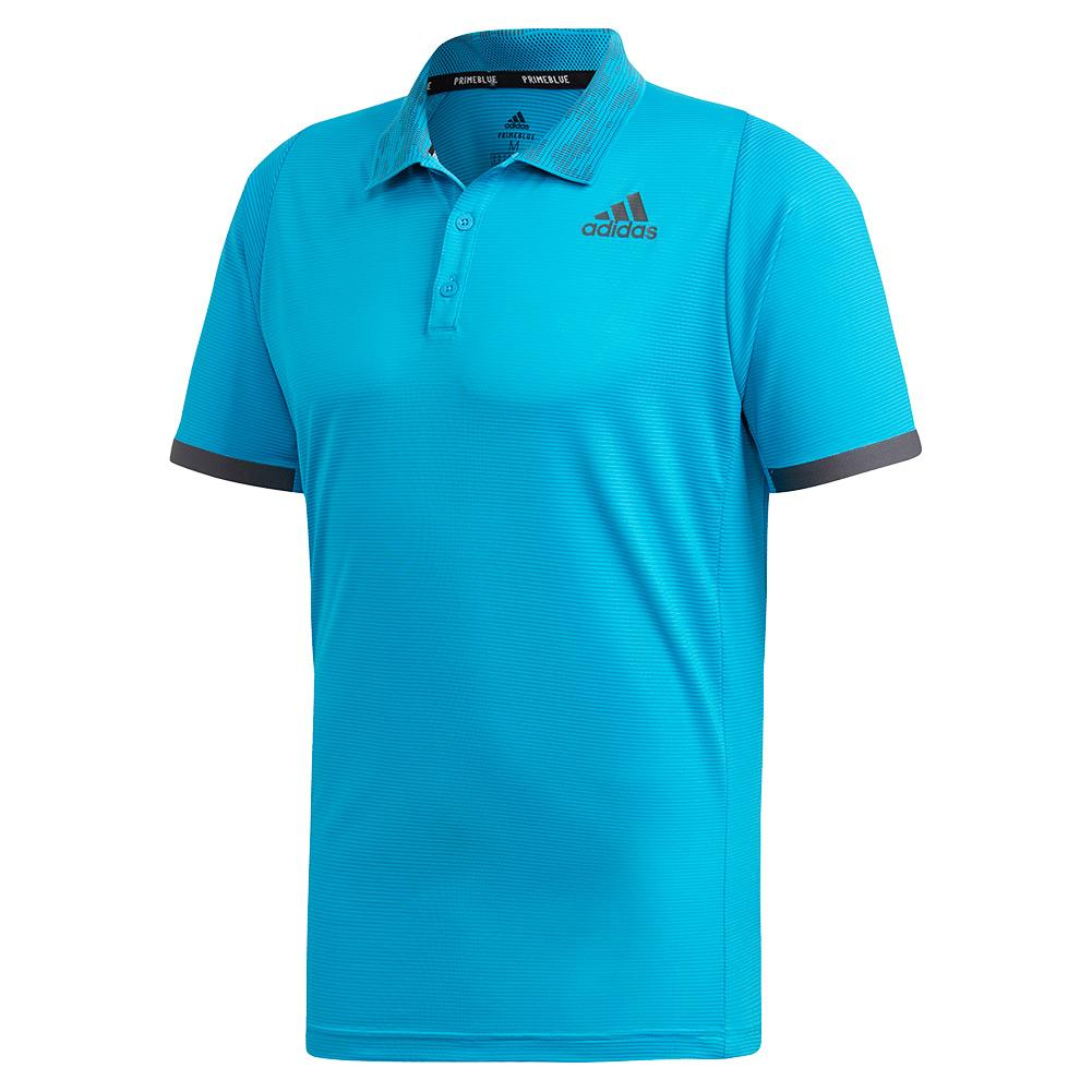 Men's Primeblue Freelift Tennis Polo Sharp Blue And Grey Two