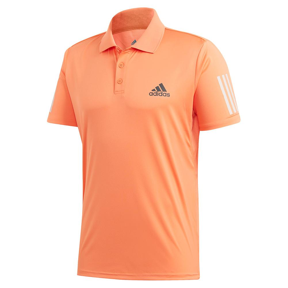 Men's Club 3 Stripes Tennis Polo Amber Tint And Grey Six