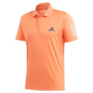Men`s Club 3 Stripes Tennis Polo Amber Tint and Grey Six
