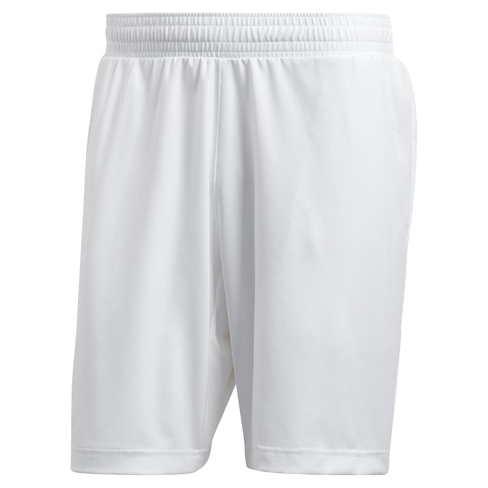 Men's Primeblue Ergo 9 Inch Tennis Short White And Black
