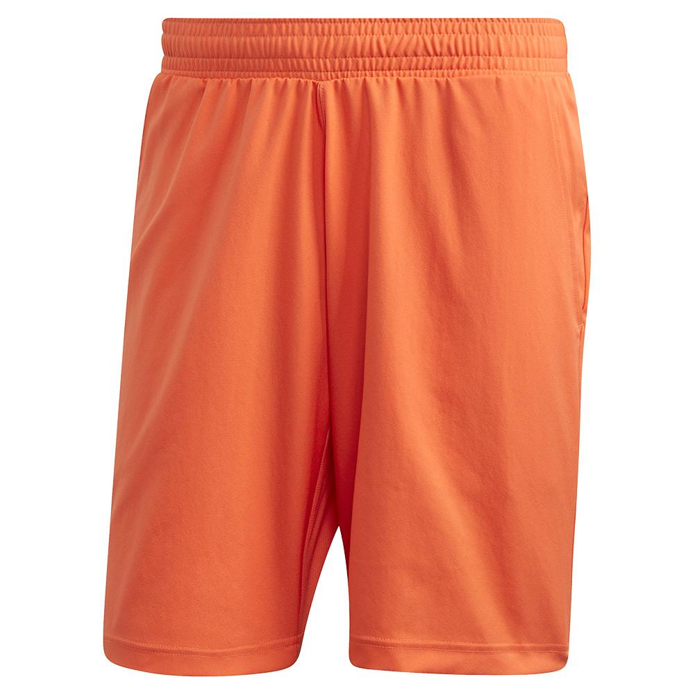 Men's Primeblue 9 Inch Tennis Short True Orange And Black